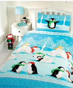 Children's single bedding set CHRISTMAS CUDDLES 135x200