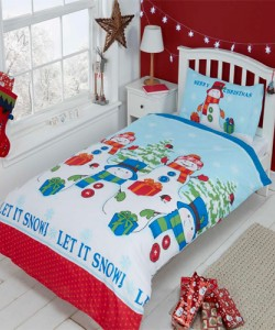Children's single bedding set LET IT SNOW 135x200