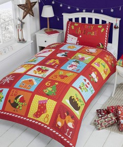 Children's single bedding set CHRISTMAS ADVENT PANEL 135x200