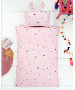 Children's single bedding set LLAMA 137x200