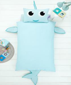 Children's single bedding set NARWHAL 137x200