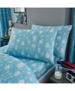Children's single bedding set ROBOT PANEL 135x200
