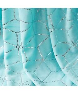 Throw Blanket CUBE Aqua 150x200