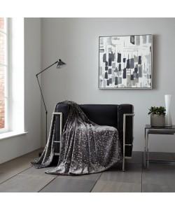 Throw Blanket STARS Glitter Charcoal 150x200