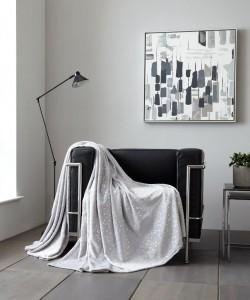 Throw Blanket STARS Glitter Grey 150x200