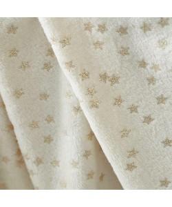 Throw Blanket STARS Glitter Beige 150x200