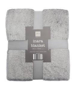 Throw Blanket INARA Glitter Gray 130x170