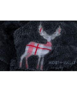 Double Microplush Comforter Set With Deer CHARCOAL 200x200