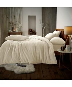 Double Microplush Comforter Set SOFT TEDDY FEEL CREAM 200x200