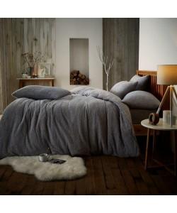 Double Microplush Comforter Set SOFT TEDDY FEEL SILVER 200x200