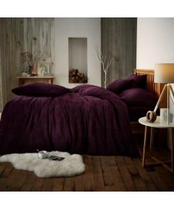 Double Microplush Comforter Set SOFT TEDDY FEEL PURPLE 200x200