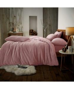 Double Microplush Comforter Set SOFT TEDDY FEEL PINK 200x200
