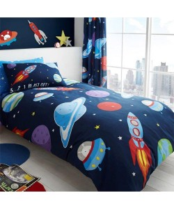 Children's single bedding set OUTER SPACE ROTARY 135x200