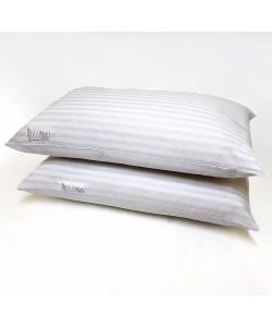 Stripe Hollowfibre Fill Bed Pillows - Set 2pcs 50x75