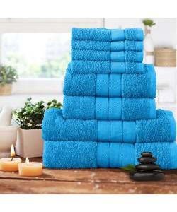 Luxury 8 pcs Towel Bale Set AQUA