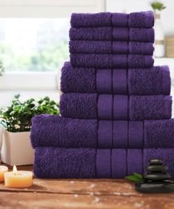 Luxury 8 pcs Towel Bale Set AUBERGINE