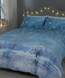 Single Duvet Set CHRISTMAS STARRY NIGHTS ICE 135x200