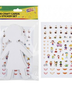 Craft Cut Outs With Stickers People (20 Pieces)