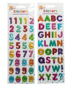 Colourful Alphabet And Numbers Stickers