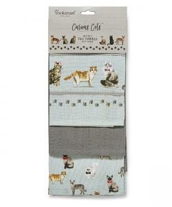 Kitchen towels CURIOUS CATS 45x65 3 PCs