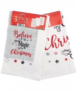 Kitchen towels BELIEVE IN THE MAGIC OF CHRISTMAS STARS 40x60 3 PCs