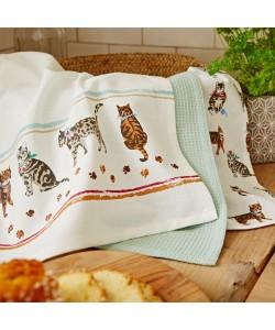 Kitchen towels CATS ON PARADE 45x65  3 PCs