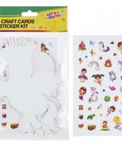 Card Craft Cut Outs With Stickers (20 Pieces)