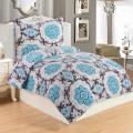 Microplush Comforter Set DONA BLUE 140x200