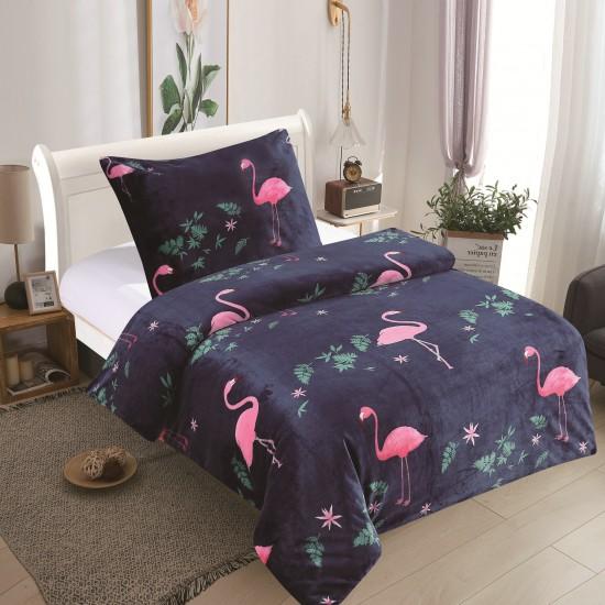 Microplush Comforter Set FLAMINGO 140x200