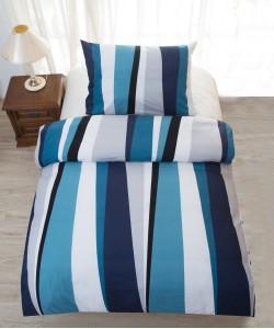 Saten bedding BLUE LINE 140x200