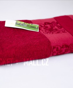 Soft bamboo bath towel ANKARA burgundy 70x140