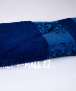 Soft bamboo bath towel ANKARA dark blue 70x140