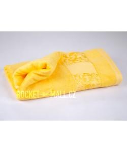 Soft bamboo bath towel ANKARA yellow 70x140