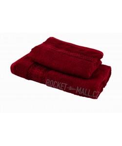 Terry bath towel and hand towel set Florina WINE 70x140 + 50x100