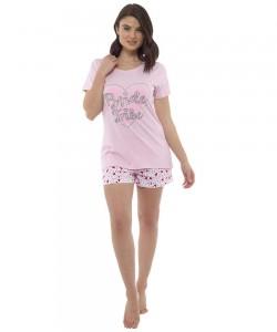 Ladies Summer Short Pyjamas Set BRIDE TRIBE