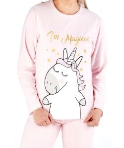 Ladies Comfy Pyjama Set I'M MAGGIE Pink