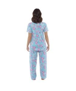 Ladies Jersey Cotton Summer Long Pyjamas UNDER THE SEA