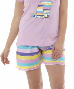 Ladies Summer Short Pyjamas Set UNI KITTY