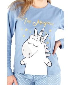 Ladies Comfy Pyjama Set I'M MAGGIE Blue