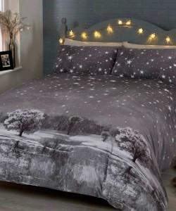 Single Duvet Set CHRISTMAS STARRY NIGHTS MONO 135x200