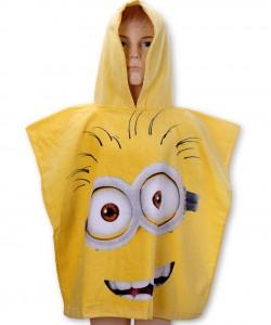 Childrens Hooded Towel Poncho MINIONS 55x110
