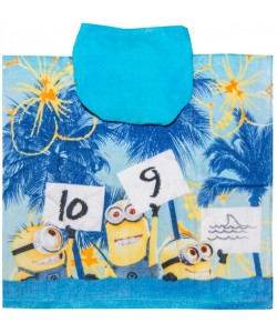 Childrens Hooded Towel Poncho MIMONI NA MOŘI 55x110