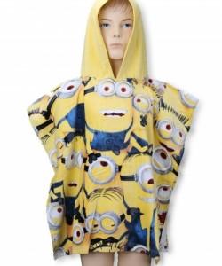 Childrens Hooded Towel Poncho  MINIONS V DAVU 55x110