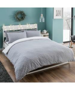 Cotton Single Duvet Set WINTER REVERSIBLE OMBRE SNOWFLAKES 135x200